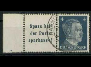 Dt. Reich, W 151 PF I, Plattenfehler, gest., Mi.-Handbuch 80,- (18787)