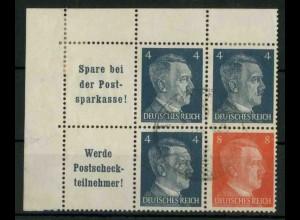 Dt. Reich, W 151 PF I (EOL) + W 153, Plattenf., gest., Mi.-Handbuch 86,- (18788)