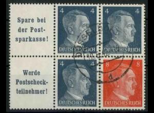 Dt. Reich, W 151 PF I + W 153, Plattenfehler, gest., Mi.-Handbuch 86,- (18789)