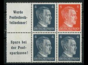 Dt. Reich, W 151 PF I + W 153, Plattenfehler, postfr., Mi.-Handbuch 86,- (18792)