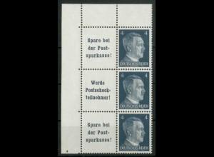 Dt. Reich, W 151 PF I (2x) + W 152, Plattenf., postfr., Mi.-Handb. 160,- (18795)
