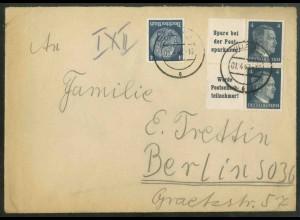 Dt. Reich, W 151 PF I + W 152, Plattenf., portogerecht, Mi.-Handb. 120,- (18803)