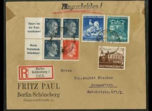 Dt. Reich, W 151 PF I + W 153, Plattenf., portogerecht, Mi.-Handb. 126,- (18806)