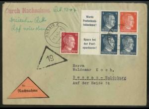 Dt. Reich, W 151 PF I + W 153, Plattenf., portogerecht, Mi.-Handb. 126,- (18807)