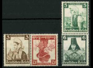 Dt. Reich, K 26 KV + S 231 KV, Klischee-Verschiebung, postfrisch (18872)