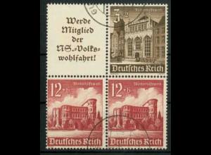 Dt. Reich, S 262 + S 266 KV, Klischee-Verschiebung, gestempelt (18889)