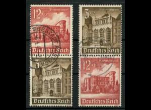 Dt. Reich, S 266 + S 268 KV, Klischee-Verschiebung, gestempelt (18892)