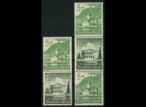 Dt. Reich, S 258 + S 259 KV, Klischee-Verschiebung, postfrisch (18905)