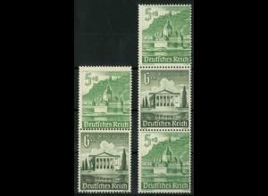 Dt. Reich, S 258 + S 259 KV, Klischee-Verschiebung, postfrisch (18906)