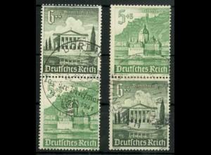 Dt. Reich, S 258 + S 260 KV, Klischee-Verschiebung, gestempelt (18910)