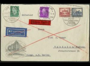 Dt. Reich, Bl W 2, Block-Zd., portoger. Eil-Brief, Mi.-Handbuch 1800,- (18961)