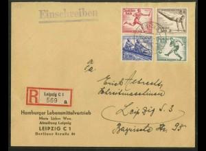 Dt. Reich, Bl S 5 + 8, Block-Zd., portoger. R-Brief, Mi.-Handbuch 1000,- (18964)