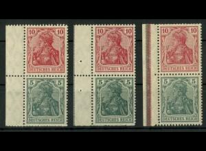 Dt. Reich, S 5 LR 0, LR 1 und LR 3, postfrisch, Mi.-Handbuch 120,- (18978)