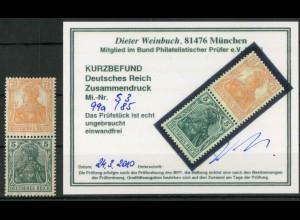 Dt. Reich, S 3 aa, ungebraucht, Befund BPP, Mi.-Handbuch 60,- (19038)