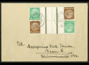 Dt. Reich, KZ 25 (2), portoger. Mehrfachfrankatur, Mi.-Handbuch 60,- (19056)