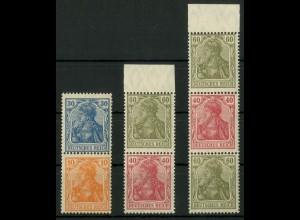 Dt. Reich, S 17, S 25, S 26 VZ, verzähnt, postfrisch (19104)