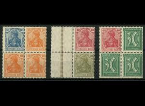Dt. Reich, S 17, S 23, S 29 VZ, verzähnt, postfrisch (19105)
