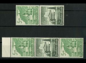 Dt. Reich, S 258 + 259 spAZ, je mit spitzem Ausgleichszahn, postfrisch (19113)
