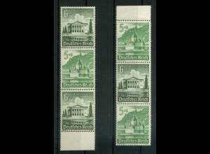 Dt. Reich, S 259 + 261 spAZ, je mit spitzem Ausgleichszahn, postfrisch (19116)