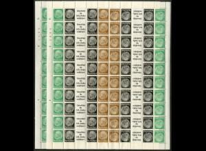 Dt. Reich, EGB 2.1 + 2.2 , postfrisch, 2 versch. Bogen, Mi. 300,- (19217)