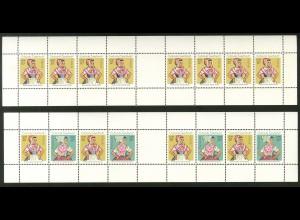 DDR, MHB A12A + A13A (je 5x), beide MHB postfrisch, ungekn., Mi. 1200,- (19259)