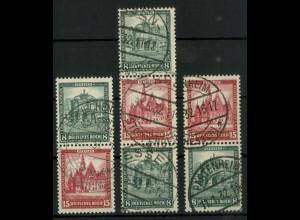 Dt. Reich, S 88 - S 90, gestempelt, ungeknickt, Mi. 175,- (19286)