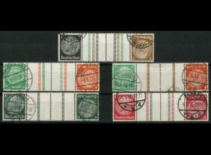 Dt. Reich, KZ 20 - KZ 23 + KZ 21.2, gestempelt, ungeknickt, Mi. 240,- (19332)