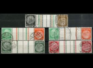 Dt. Reich, KZ 20 - KZ 23 + KZ 21.2, gestempelt, ungeknickt, Mi. 240,- (19333)