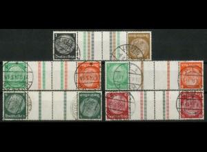 Dt. Reich, KZ 20 - KZ 23 + KZ 21.2, gestempelt, ungeknickt, Mi. 240,- (19336)