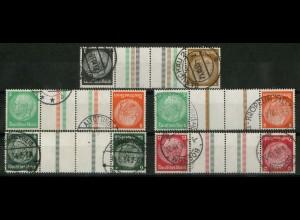 Dt. Reich, KZ 20 - KZ 23 + KZ 21.2, gestempelt, ungeknickt, Mi. 240,- (19338)