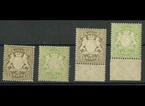 Bayern, Mi. 69/70 (2), postfrisch, Mi. 240,- (19349)