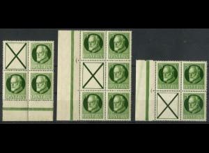 Bayern, S 17 + 19 + 20, postfrisch, Mi. 135,- (19355)