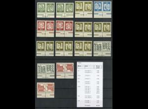 Bund, ex K 1 - K 6 mit 15 versch. HAN, postfrisch, ungefaltet, Mi. 167,- (19423)