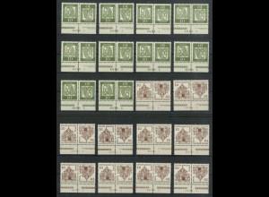 Berlin, K 3 + K 4 je 5x mit 4 versch. HAN, postfr., ungefaltet, Mi. 600,-(19428)