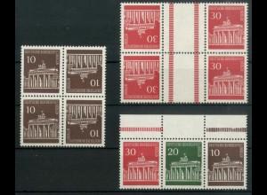 Berlin, drei Plattenfehler-Zd. aus MH 5, postfrisch, Mi.-Handbuch 340,- (19450)