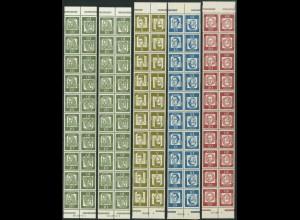 Bund, ex K 1 - K 6, 15 versch. 10er-Streifen m.HAN, postfrisch, Mi. 300,-(19455)