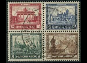 Dt. Reich Bl Hz 1, Herzstück gestempelt, ungeknickt, Mi.-Handbuch 600,- (19478)