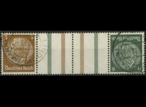 Dt. Reich, KZ 27.2, gestempelt, ungeknickt, Mi. 150,- (19524)