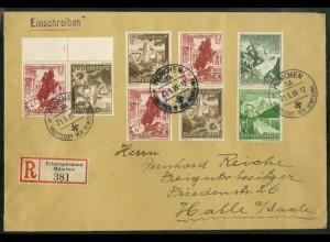 Dt. Reich, K 34 + Form-Nr. + 3 Zd., Mi.-Handbuch 90,- (19543)