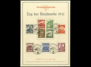 Dt. Reich, Mi. S 258 + S 266, auf Gedenkblatt, Mi.-Handbuch 120,- (19545)