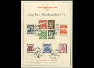 Dt. Reich, Mi. K 37 + 38, auf Gedenkblatt, im Mi.-Handbuch unbekannt (19546)