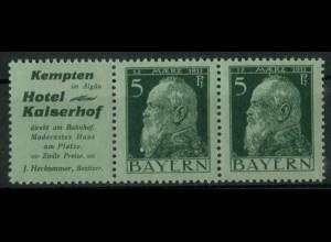 Bayern, W 1.24, postfrisch, vollständige Zähnung, Mi. 90,- (19627)