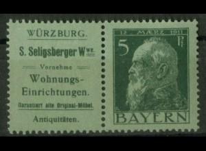 Bayern, W 1.29, postfrisch, vollständige Zähnung, Mi. 70,- (19631)
