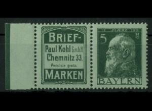 Bayern, W 1.30, postfrisch, vollständige Zähnung, Mi. 70,- (19634)