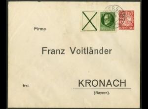 Bayern, W 5, portogerechter Fernbrief (19669)