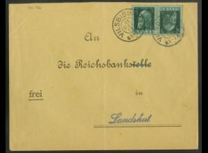 Bayern, K 1 + K 5, zwei portogerechte Einzelfrankaturen (19675)