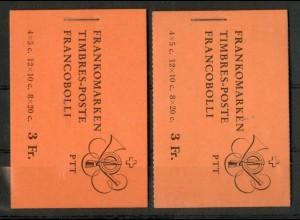Schweiz, MH 0-45 x (2), Reklamen c + d, postfrisch, Mi. 84,-. SBK 130,- (50108)