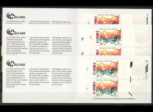 Schweiz, MH 0-104 (3), drei verschiedene MH, postfr., Mi. 54,- (50187)
