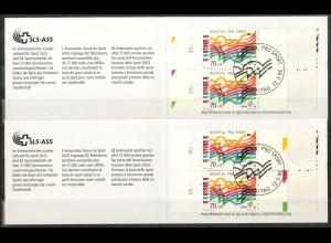 Schweiz, MH 0-104 (2), zwei verschiedene MH, gest., Mi. 36,- (50188)