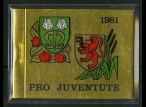 Schweiz, MH 0-75, MH Juventute 1981, Fehlheftung, postfrisch, (50201)